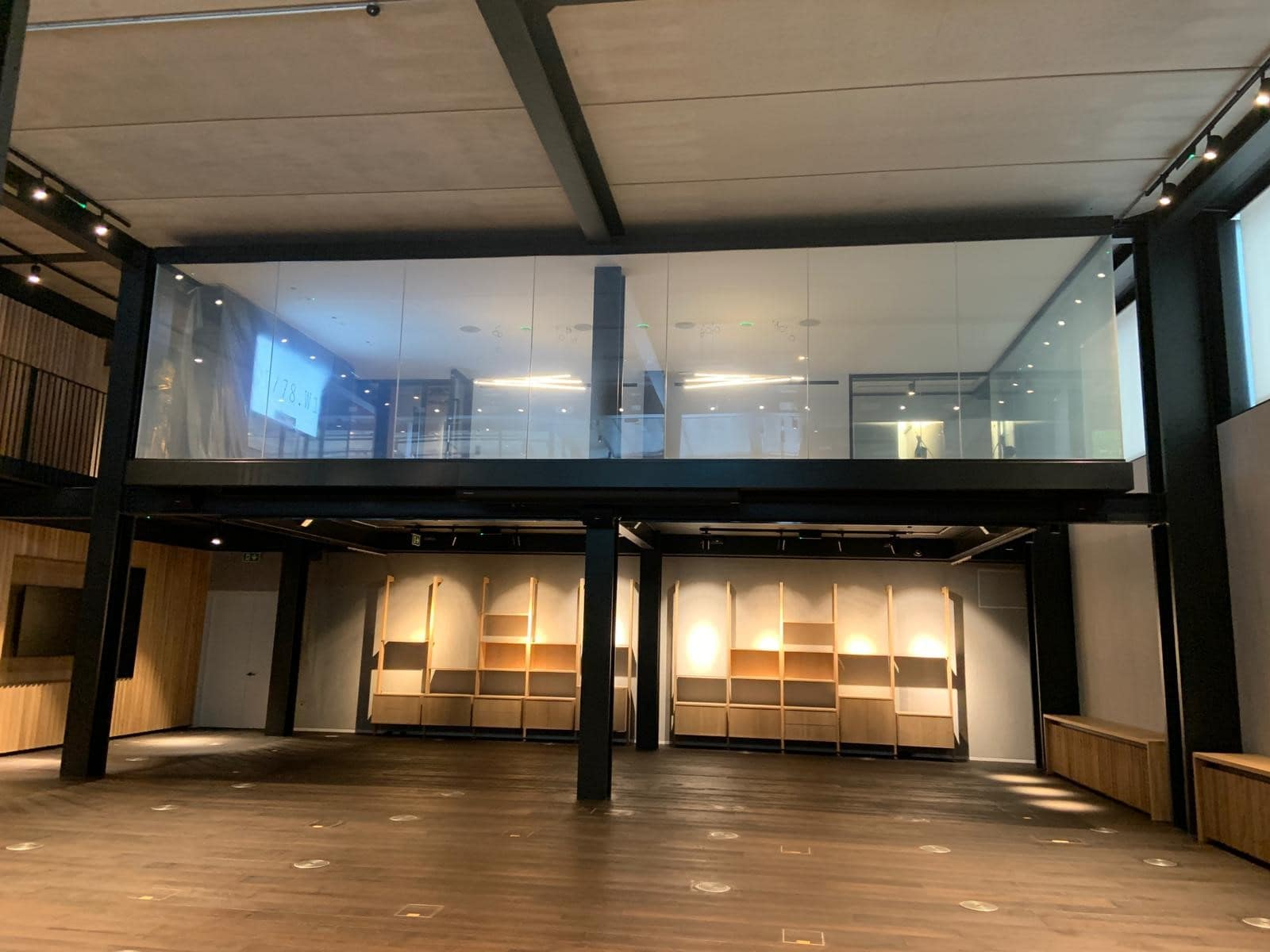 internal glass facades