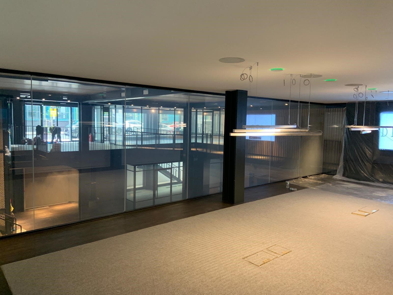 internal glass wall