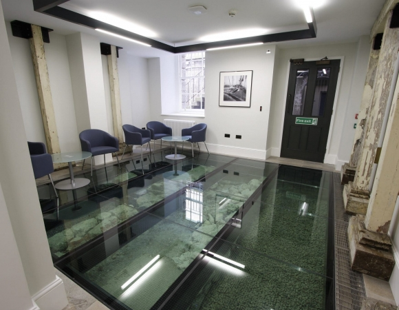 Slip Resistant Frameless Glass Floor