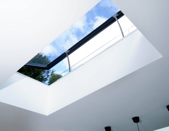 commercial glazed venting rooflight