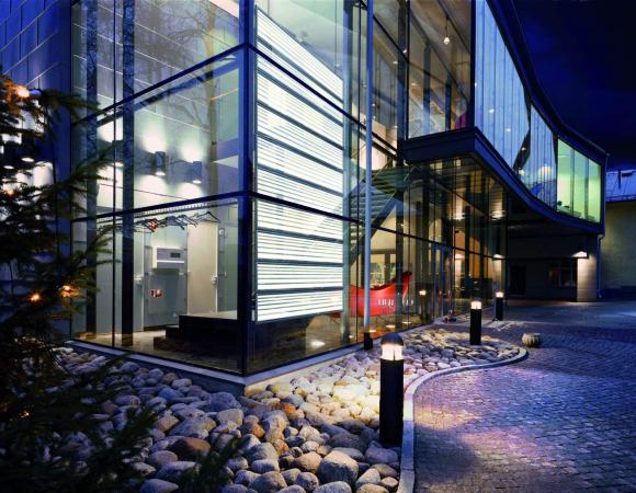 LED glass facade
