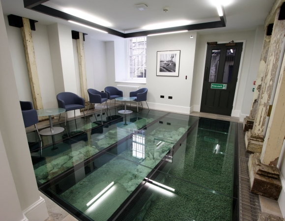 Slip Resistant Structural Glass Floor