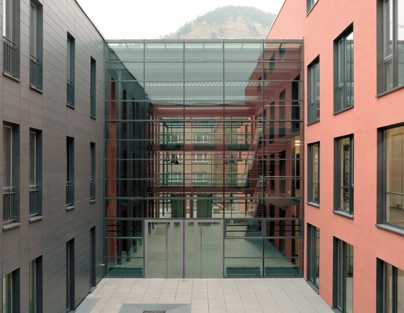 Fire rated glass facade